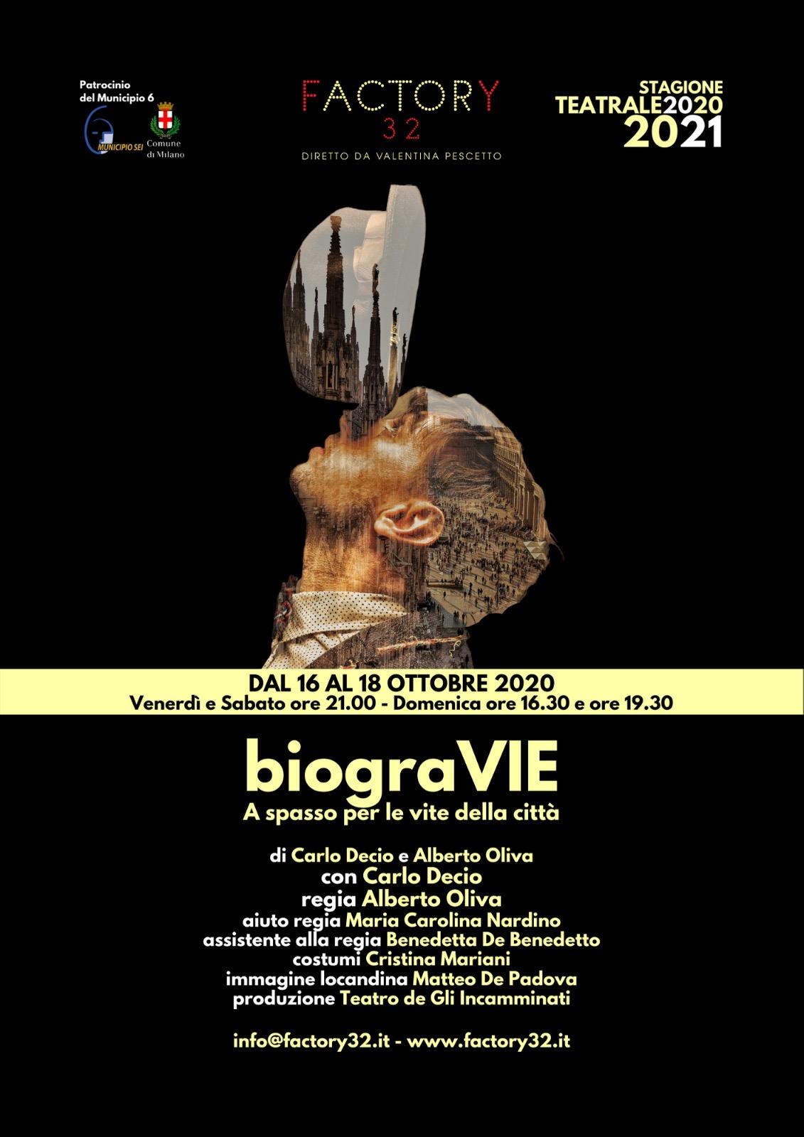 """""""biograVIE  – A spasso per le vite della città"""""""
